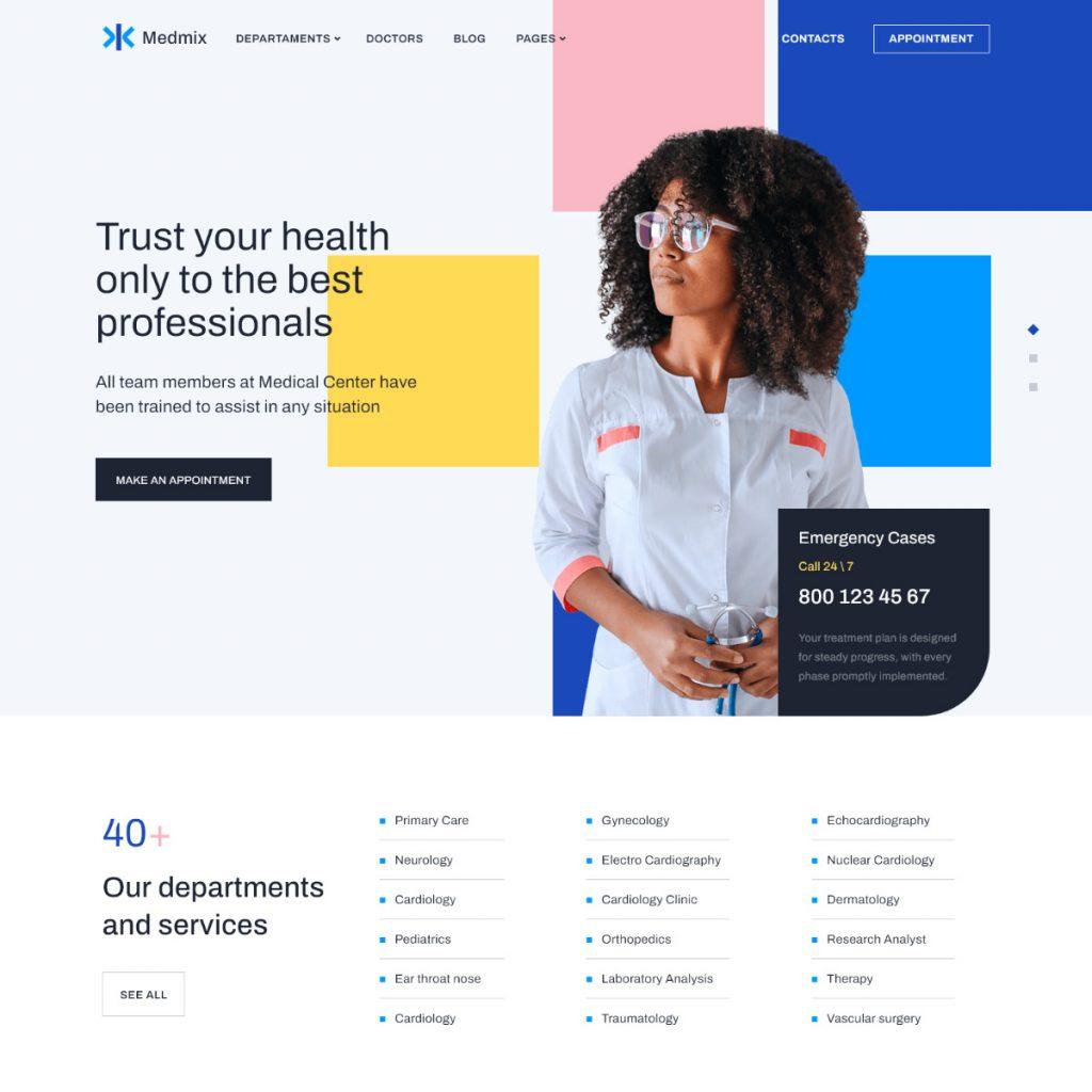Elementor Medical WordPress Theme